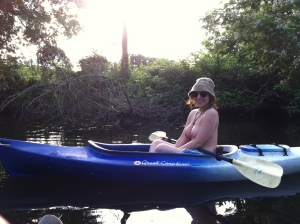 St. Jones River, Dover, De.  We paddled up the St. Jones River into Silver Lake park and behind the state capitol building.  Delaware code criminalizes female breast exposure.  Summer 2015