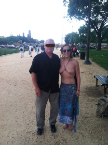 National Mall, Washington D.C.  Summer 2015.   This lovely gentleman walked by a couple times before timidly and politely asking if we could chat.  He was curious and genuine with his interest and support.  I asked to take a picture with him to record the friendly exchange.