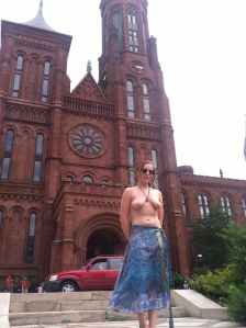 National Mall, Washington D.C. Summer 2015.  In front of the Smithsonian Building.