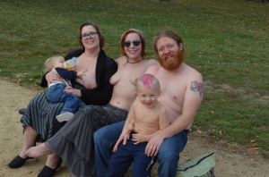 National Mall, Washington D.C October 2015. This wonderful, spontaneous family from Delaware decided to join us!